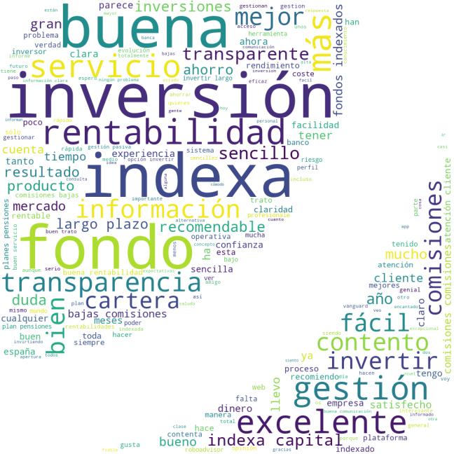 Nube de palabras Trustpilot Indexa Capital 02-2020