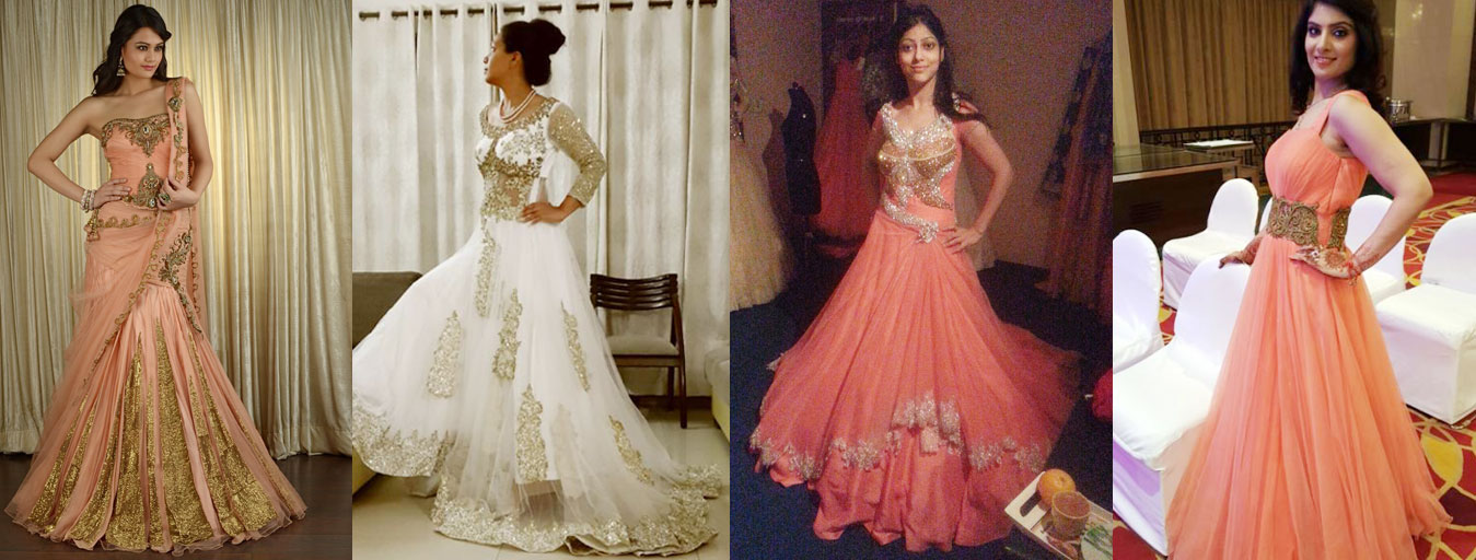 5 Different Indo Western Gowns For Wedding