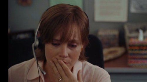 A distraught Amy Adams in the film Julie & Julia