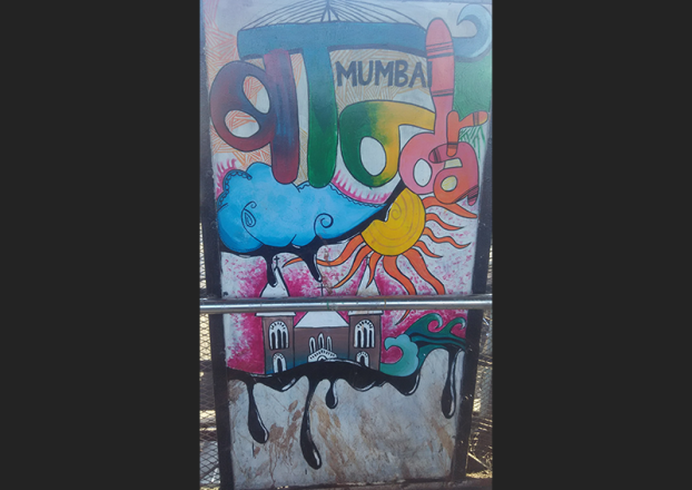 Churchgate to Bandra Local Train Station Art in Mumbai