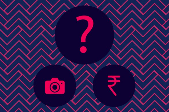 question mark, camer, rupee symbol, what to consider before hiring a photographer, indiefolio blog