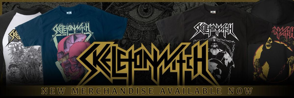 New Skeletonwitch merchandise available now!
