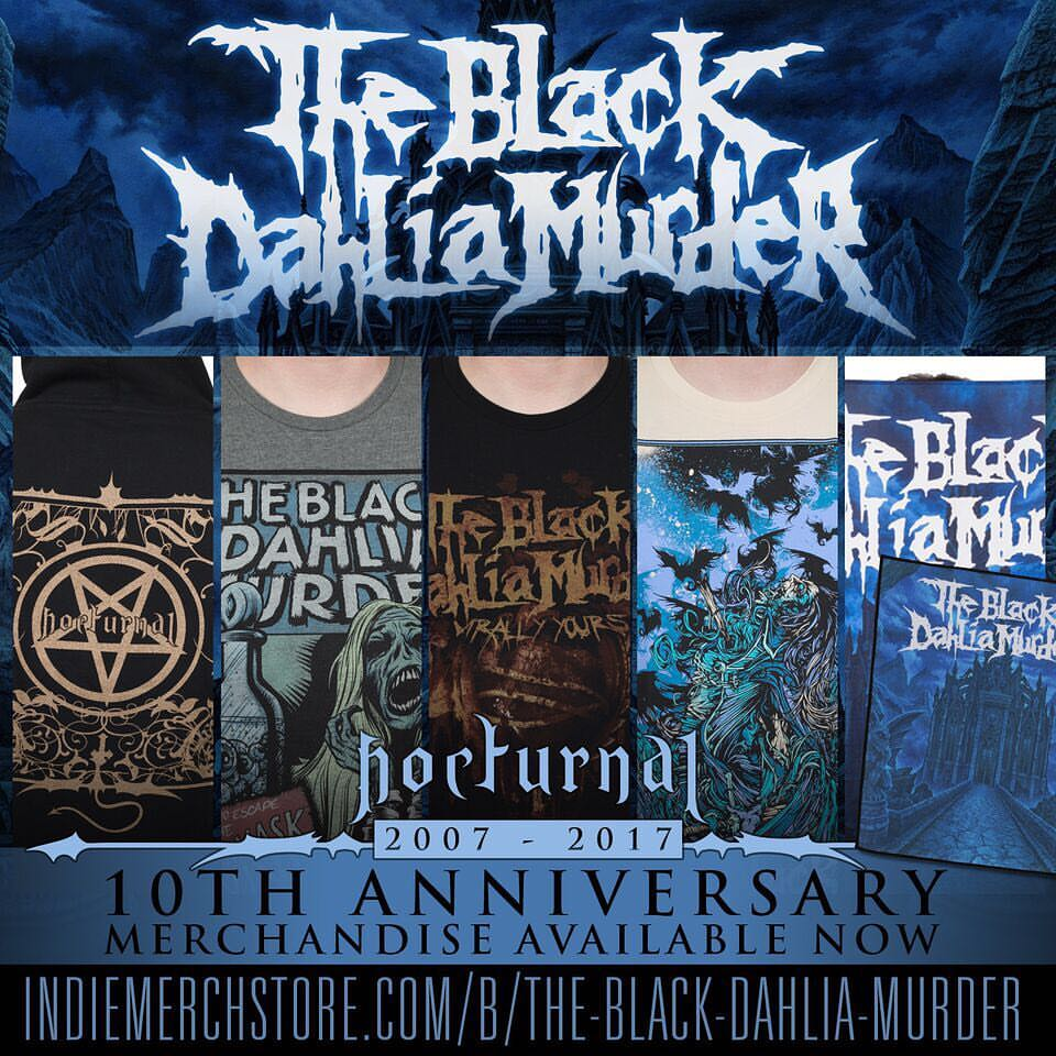 "The Black Dahlia Murder ""Nocturnal"" merch available!"