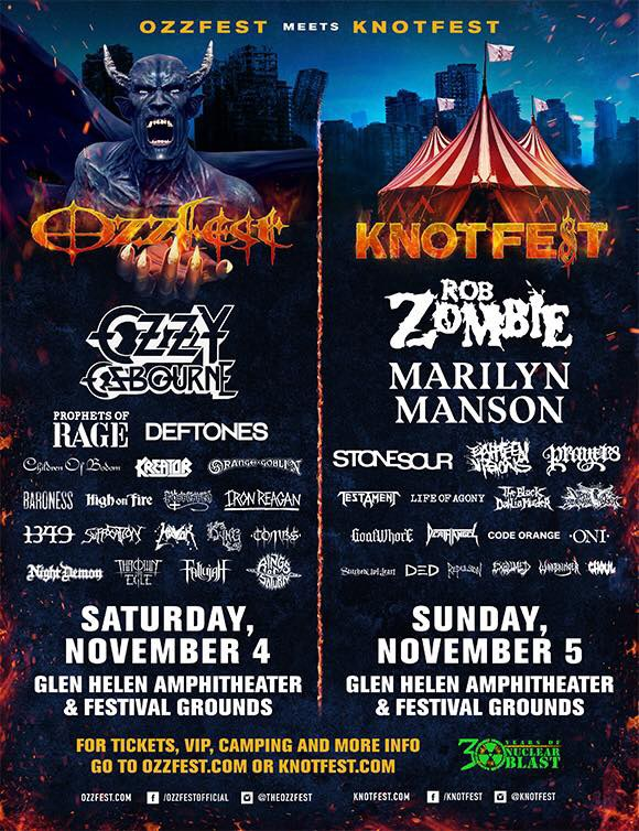 Ozzfest meets Knotfest November 4th/5th!