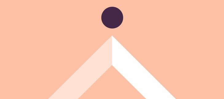 triangolo e cerchio, rappresentazione iconica di intelligenza artificiale e marketing