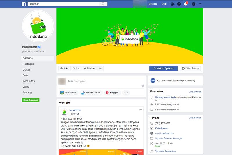 Facebook Resmi Indodana