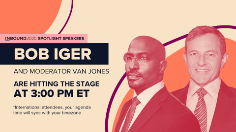 Session at Inbound 2020 Conference with Bob Iger and Van Jones