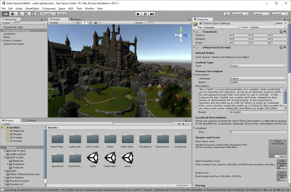 2016-11-24-Sine-Space-Castle-Unity3D-Editor
