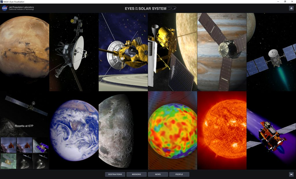 NASA-Eyes-Simple-Mode-Missions