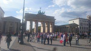 Brandenburg Gate with crowds