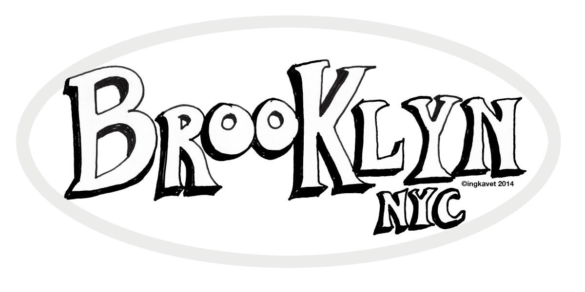 Hand lettering of Brooklyn NYC