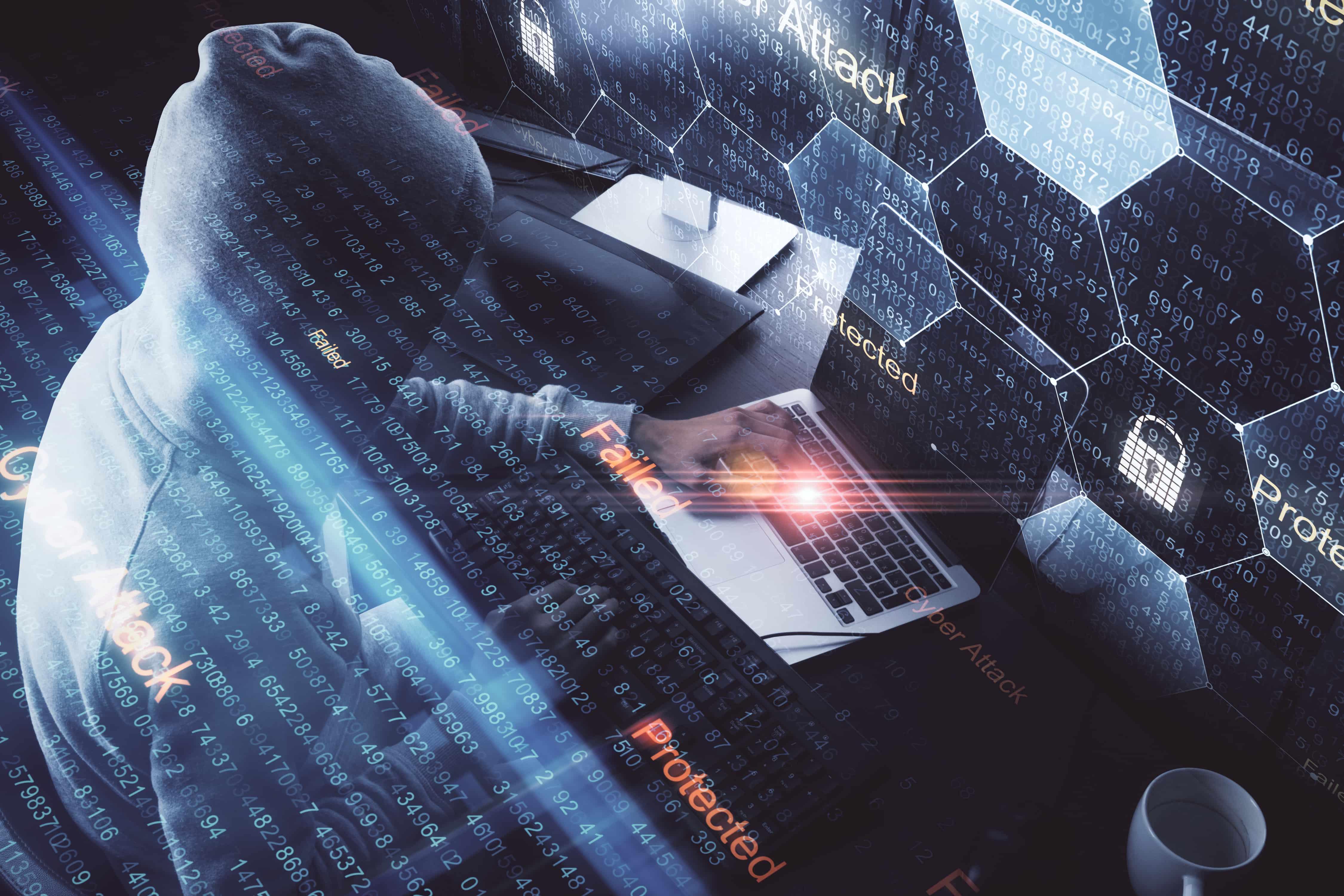 Imagem mostra uma pessoa tentando invadir um sistema e sendo bloqueado