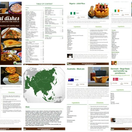 The ebook National Dishes From Around The World