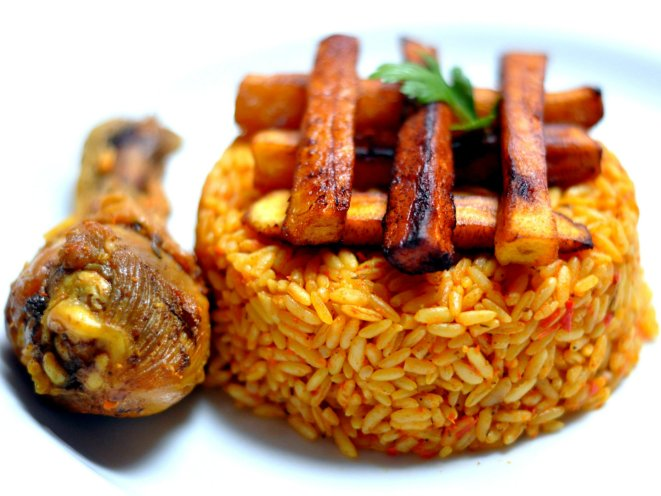 Image result for jollof rice and plantain