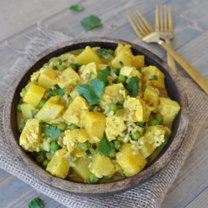Simple Curry Tofu and Pineapple