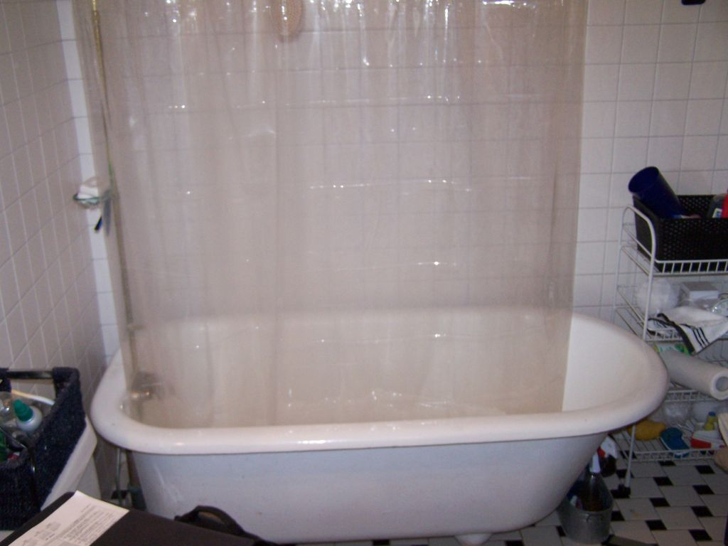 cast iron clawfoot tub to shower