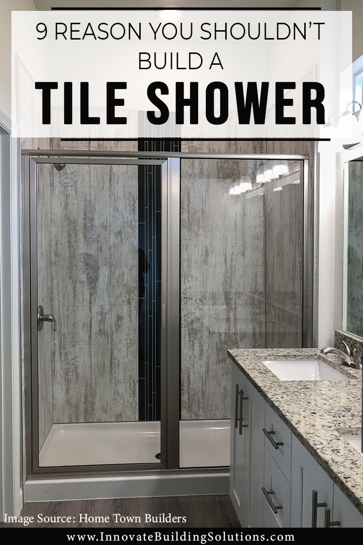 build a tile shower grout free wall