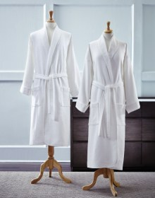 Men and Womens terry cloth robes by Sferra, available at InnStyle.