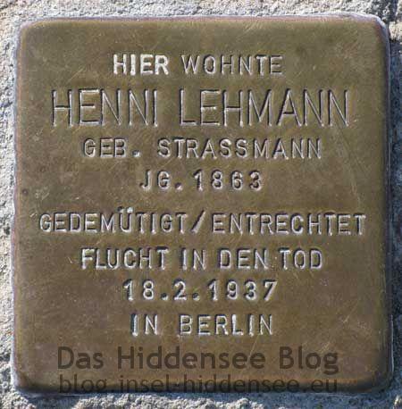 Stolperstein Henni Lehmann
