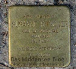 Stolperstein von Suanne Rietscher in Vitte auf dem Süderende