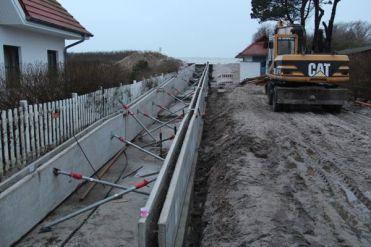 """Strandaufgang am Hotel """"Zur Ostsee"""" am 18.01.2014"""