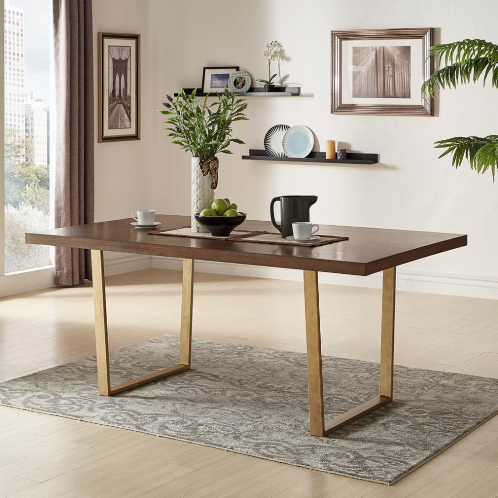 iNSPIRE Q Bold Marlee Sled Table (with Gold Base)
