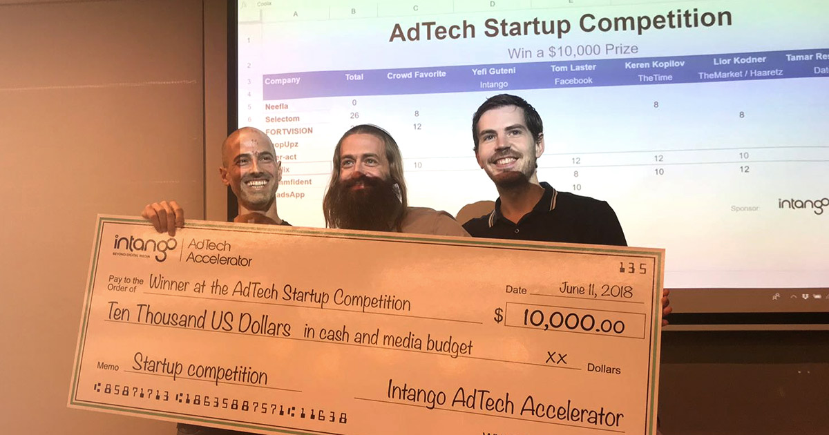 Coolix winners of Intango's Adtech Startup Competition