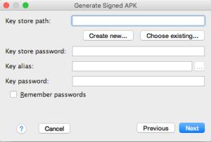 3.Generate Signed APK