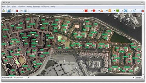 Positionner les différents réseau sur une fond de carte permet une localisation rapide des problèmes.