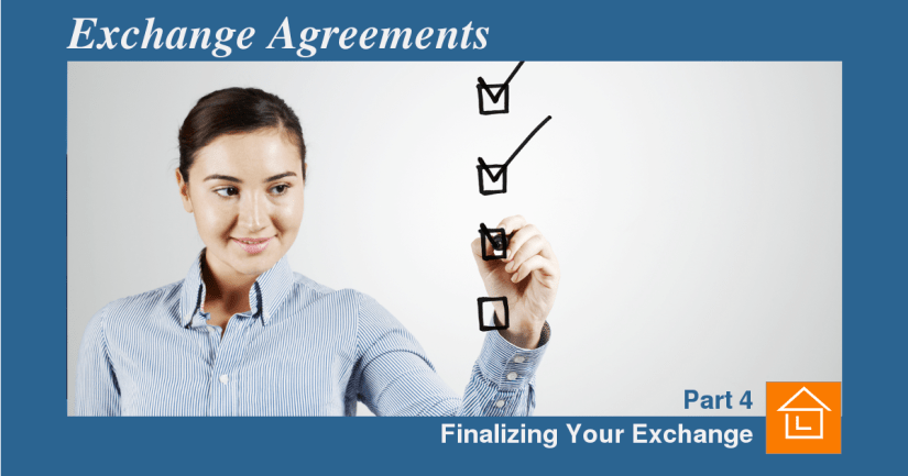Finalizing your agreement
