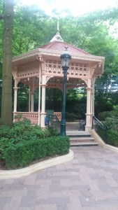 Gazebo at the entrance of Disneyland Paris