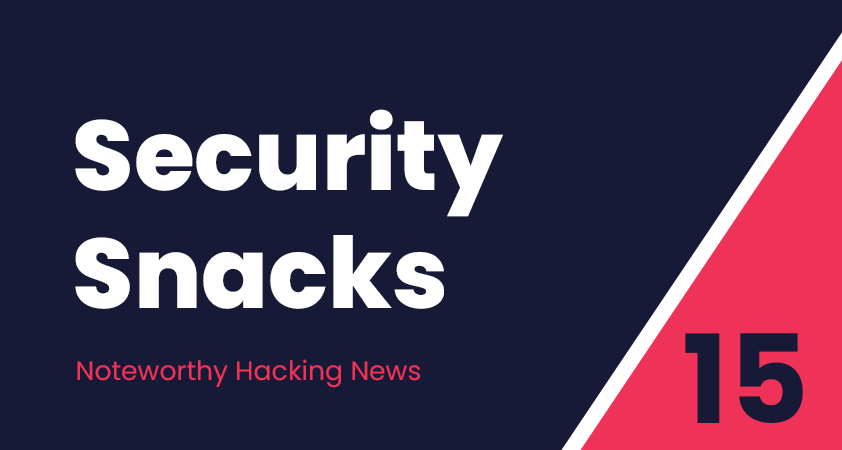 Security Snacks #15 – A slew of Cisco bugs, Risks of DoH & DNSpooq (aka new proof that it's always DNS!)