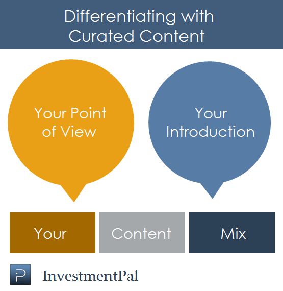 content curation differentiation in financial services