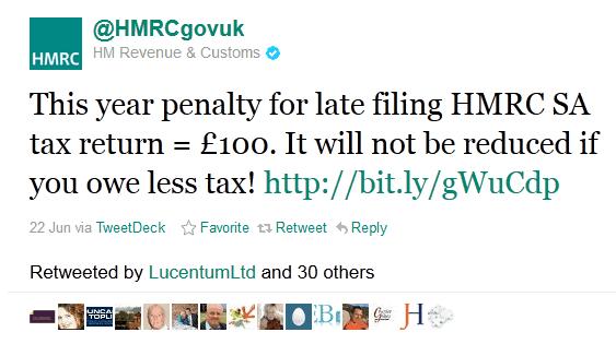 twitter for marketing - HM Revenue & Customs, Tax