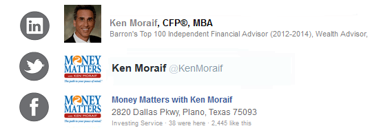 Kenneth Moraif       Money Matters