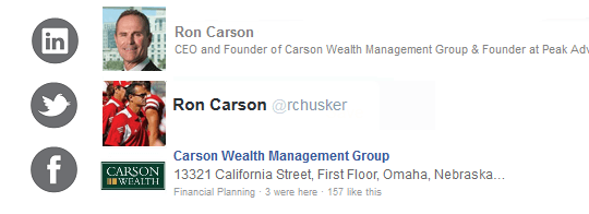 Ron Carson       Carson Wealth Management Group