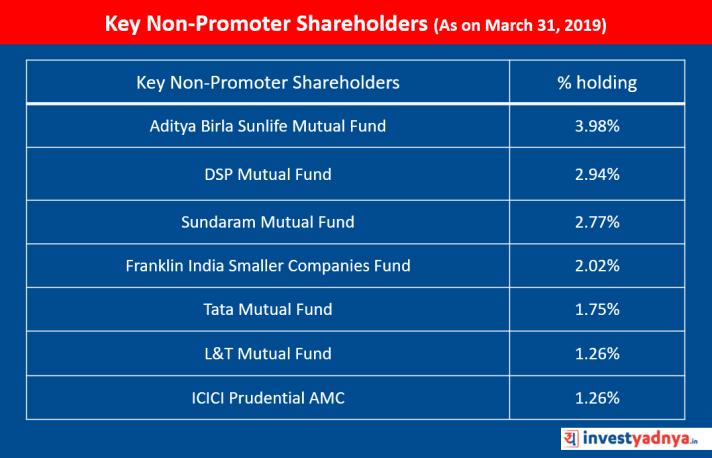 Key Non-Promoter Shareholders