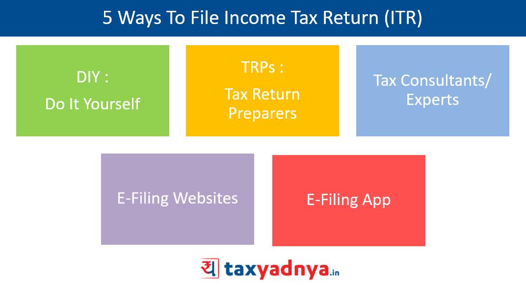 5 Ways to file income tax return (ITR)