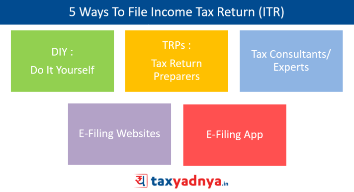 5 Ways To File Income Tax Return (ITR)