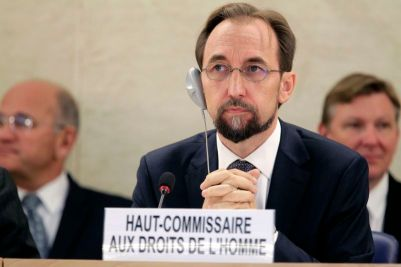 Newly appointed U.N. High Commissioner for Human Rights Prince al-Hussein is pictured at the Human Rights Council in Geneva