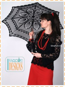 Goth stule crochet umbrella