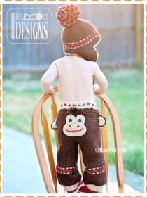 crochet monkey pants
