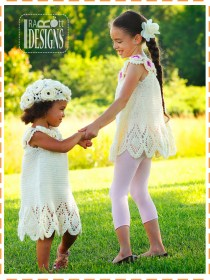 crochet summer dress top and beret