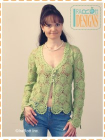 green lace cardigan2