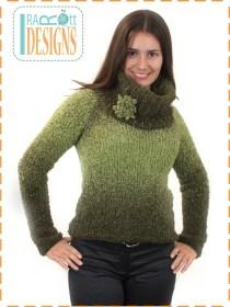 knit boucle sweater
