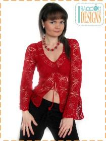 lace crochet blouse