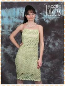 lace crochet silk dress
