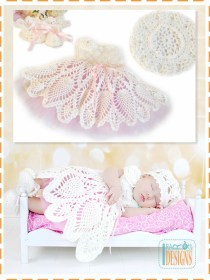 pineapple christening crochet baby dresses
