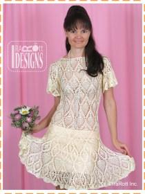 pineapple crochet dress2