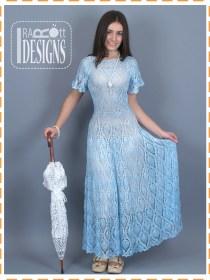 pineapple crochet dress3